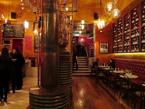 Trendy bar/restaurant in Melbourne called Naked For Satan