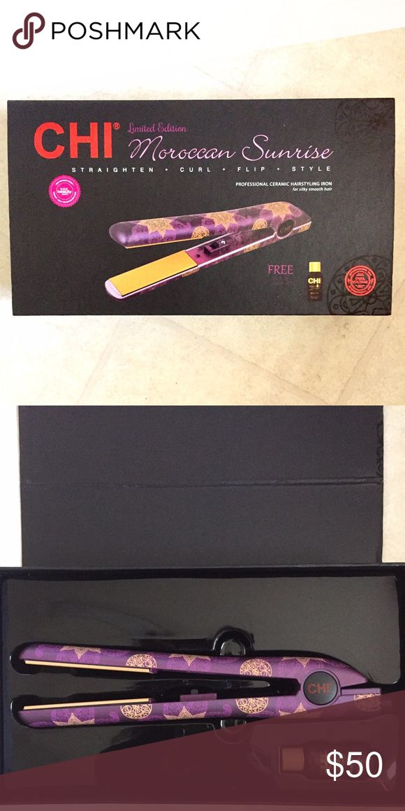 BNIB Chi Moroccan Sunrise Straightener BNIB. Never used. Price is firm. No trades. Chi Other