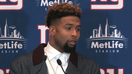 New York Giants wide receiver Odell Beckham Jr. chats about his incredible catch and the injury that sidelined him for part of the game.