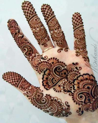 simple mehendi front hand - Google Search