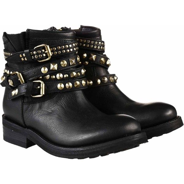 Ash Boots (7.325 UYU) ❤ liked on Polyvore featuring shoes, boots, ankle booties, ankle boots, botas, black, black bootie, black booties, distressed leather boots and black ankle booties