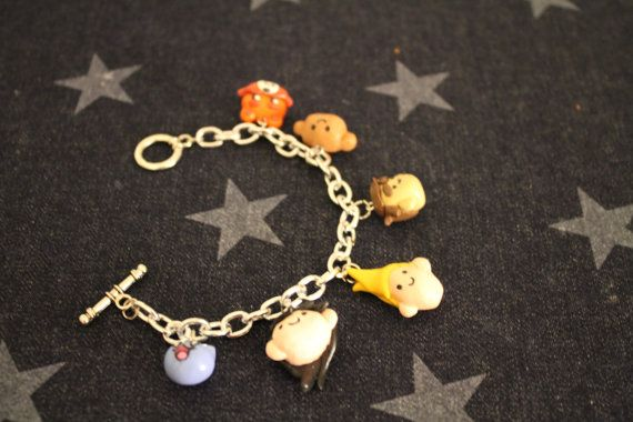 Hand sculpted Bravest Warriors charm bracelet. Characters can be added or swapped out. Available in my Etsy shop :)