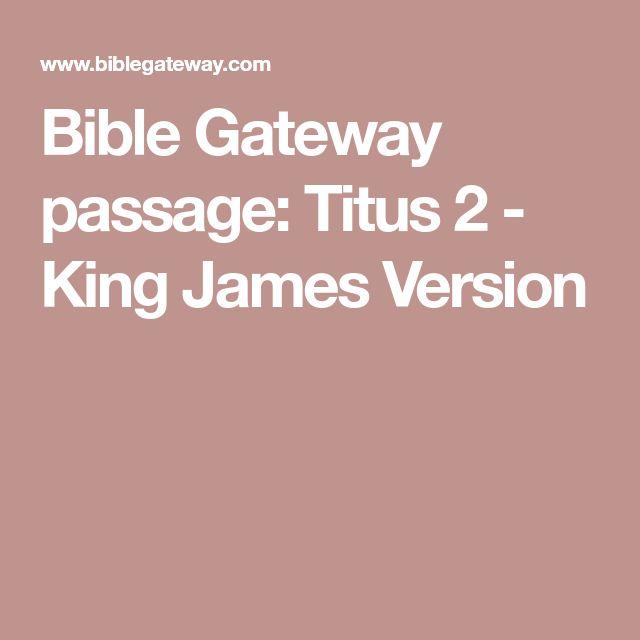 Bible Gateway passage: Titus 2 - King James Version