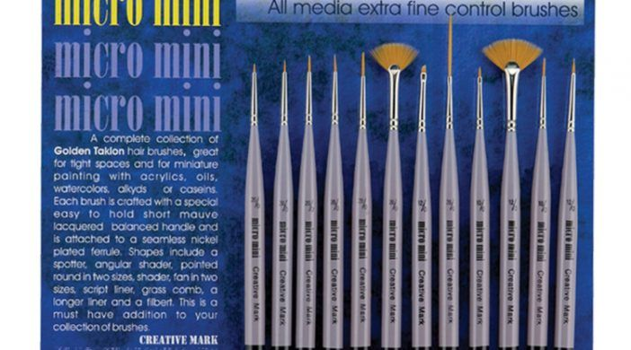 Micro Mini Paint Brush Set for Artists working in Fine Detail