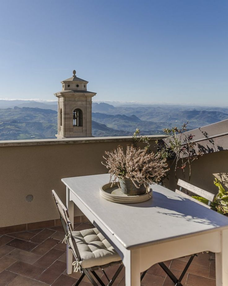La terrasse du B&B Balsimelli 12 en plein coeur de la cité médiévale
