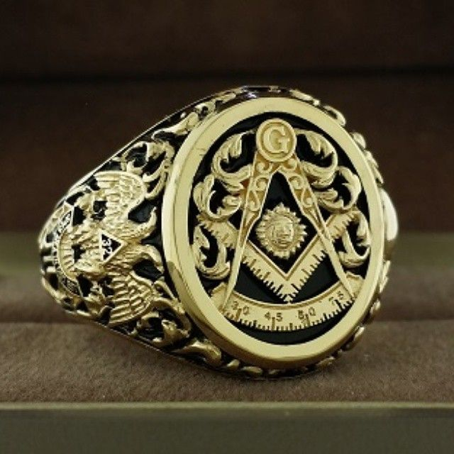 Past Master Masonic Ring With Floral Leaf Work Design Solid Etsy Masonic Ring Vintage Masonic Jewelry Masonic Ring