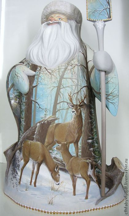Сувениры ручной работы. Ярмарка Мастеров - ручная работа. Купить Дед Мороз с оленями (45 см). Handmade. Подарок