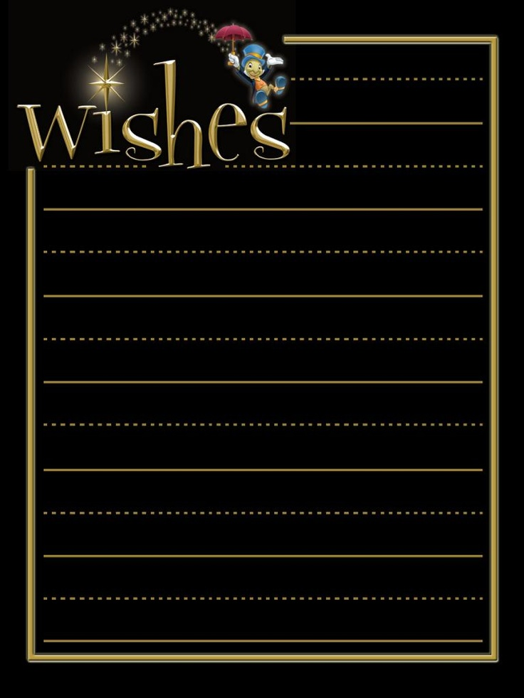 """Wishes - Project Life Disney Journal Card - Scrapbooking. ~~~~~~~~~ Size: 3x4"""" @ 300 dpi. This card is **Personal use only - NOT for sale/resale** Logos/clipart belong to Disney."""