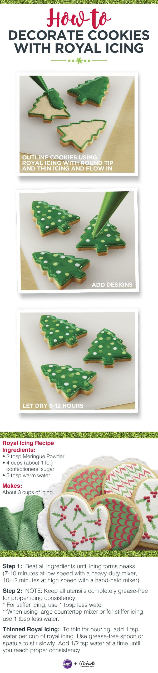 How to decorate cookies with royal icing