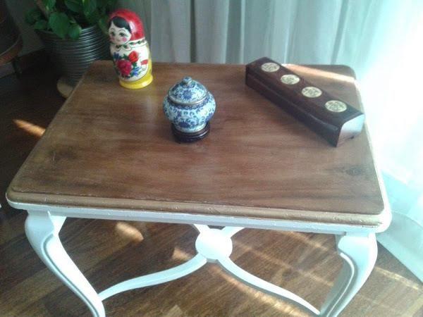 Un proceso de restauración completo para una mesa de centro