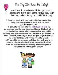 birthday celebration to send home i am definitely using this classroom ideas classroom school classroom birthday