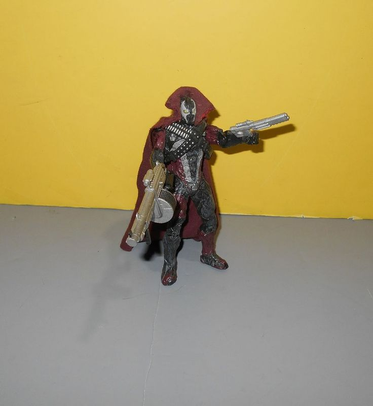 "1997 McFarlane Toys Spawn The Movie Spiked Spawn 6"" Action Figure w/ Weapons  