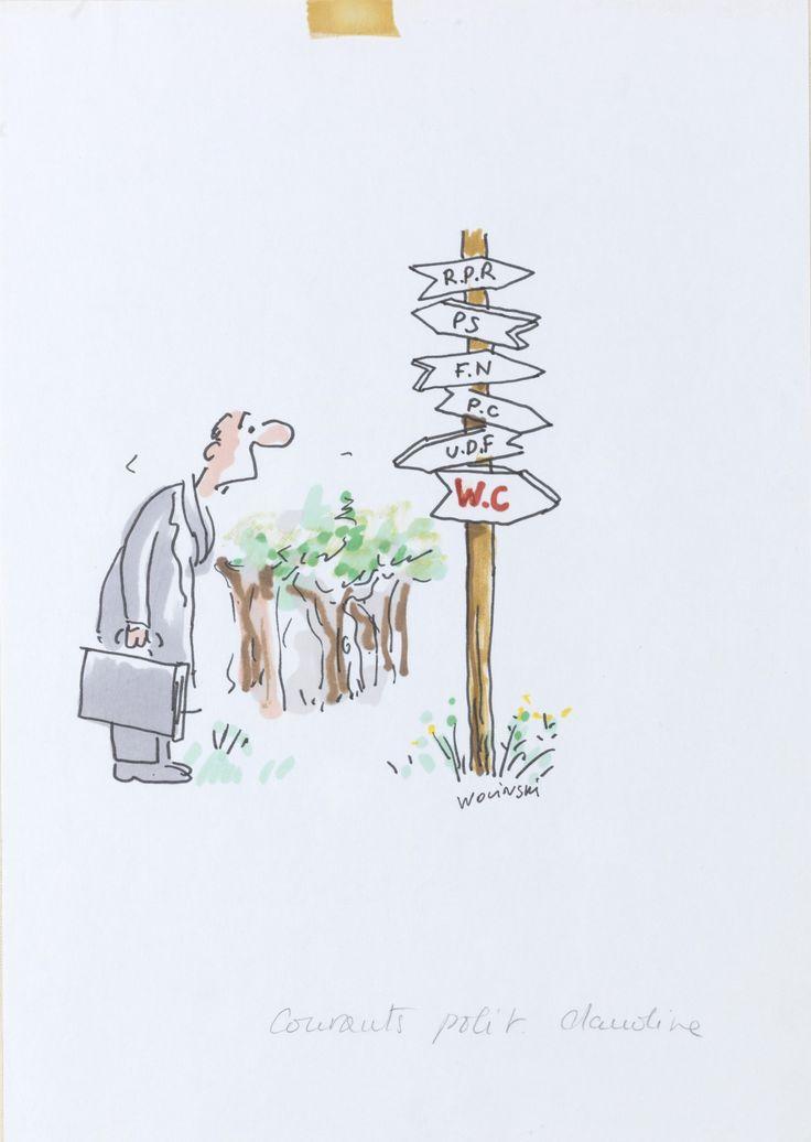 Charlie Hebdo:«Les directions». Dessin original, années 1980. Crédit: © Wolinski