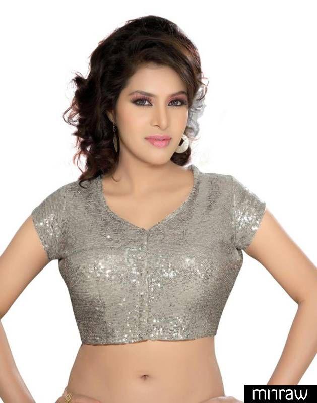 Beautiful silver blouse