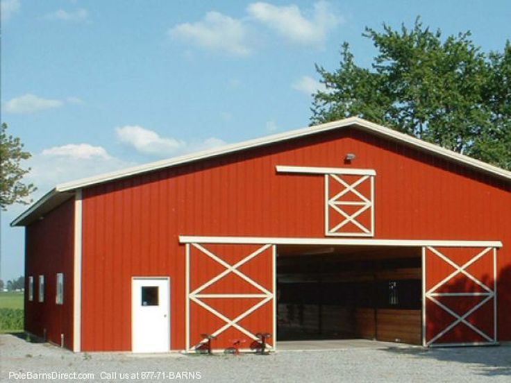 106 best barns images on pinterest barn home ideas and for Pole barn home kits indiana