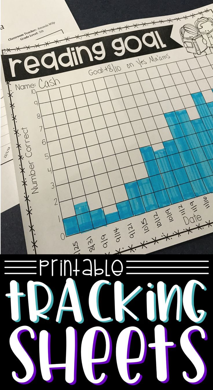 When progress monitoring, you need tracking sheets that will allow you and your students to see progress. These printable progress monitoring sheets are perfect for student data binders, RTI goals, IEP goals, and progress monitoring.