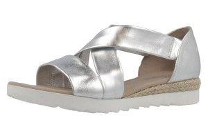 GABOR comfort - Damen Sandalen - Silber Schuhe in Übergrößen