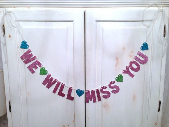 We Will Miss You Banner  Going Away Party Banner / by hawthorneave, $23.00