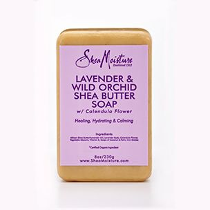 PINCHme Free Sample - SheaMoisture Lavender & Wild Orchid Shea Butter Soap SheaMoisture's natural, nutrient-rich bar soap bathes your skin with moisturizing Shea Butter and fragrant Lavender and Wild Orchid.