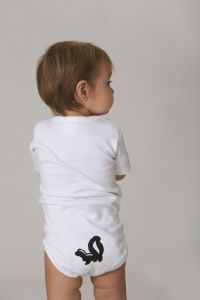 Little Stinker- Funny Baby Onesie, for when the little one visits nana, she loves skunks <3