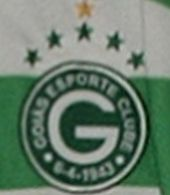 Goiás Esporte Clube  Brazil, 2005/2006. Rare match worn shirt with horizontal green white stripes. From Goiânia, state of Goiás, it took part in the Copa Libertadores and in the South-American Cup