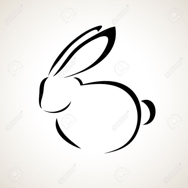 rabbit outline drawing - Google Search