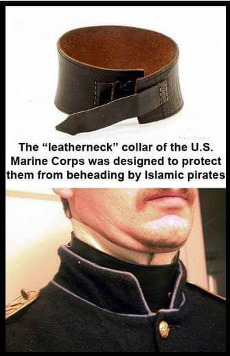 "mojave-wasteland-official:  "" anarchyinblack:  "" counter-culture-of-love:  ""History lesson for today: Thomas Jefferson sent the MARINES to take care of Islamatic pirates in 1801-1805, the FIRST Barbary war…..the SECOND Barbary war started in..."