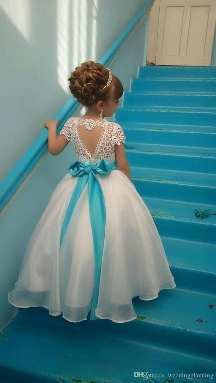 Lace Backless 2017 Cheap Flower Girl Dresses Cap Sleeves Baby Girl Birthday Party Christmas Communion Dresses Children Girl Party Dresses White Flower Girl Dresses Baby Girls Dresses From Weddingplanning, $40.87| DHgate.Com