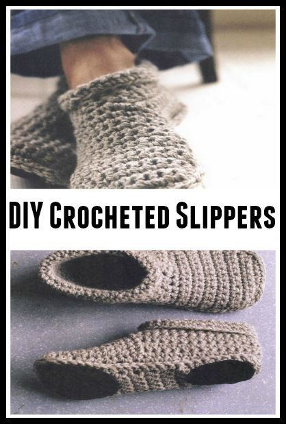 DIY Cozy Crocheted Slippers