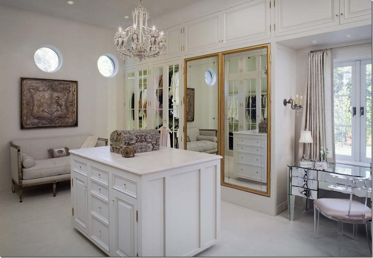 hers (1 of 2) her dressing room is filled with french antiques including the mirrored doors♔