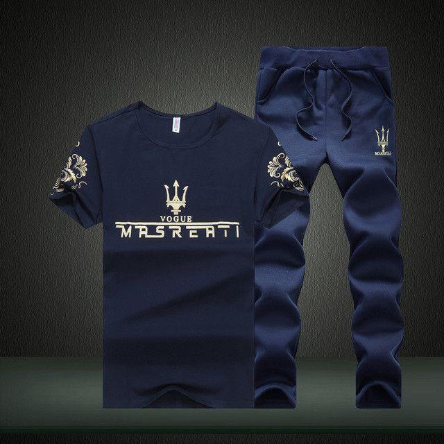 Man Sweat Suit Casual Long Pants Set