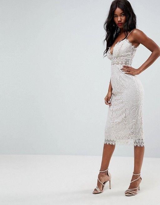 443915a033670 Lace Cami Midi Pencil Dress