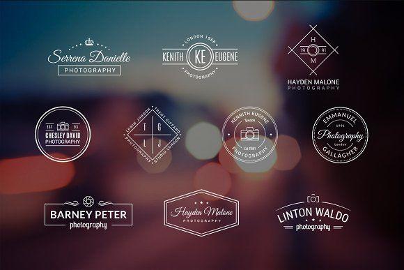 10 Photography Logos Vol. 4 by Piotr Łapa on @creativemarket