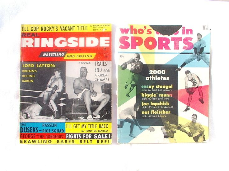 Who's Who and Real RINGSIDE BOXING Joe Louis Stan Musial Rocky Graziano Jack Dempsey sports magazine 1953 back issues vintage 1950s by OurVintageHouse on Etsy
