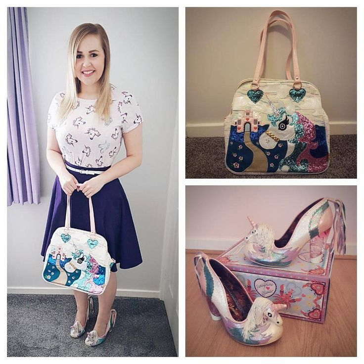 "127 Likes, 6 Comments - Heather Day (@heatherdaydreamer) on Instagram: ""It's a unicorn day today! 🦄🦄🦄 Top: #primark Skirt: #collectif Bag and shoes: #irregularchoice…"""