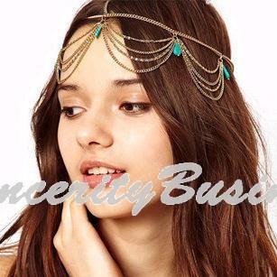 Аксессуары для волос шарм готический чешские бохо корона манжеты повязка на голову тюрбан головной убор цепи