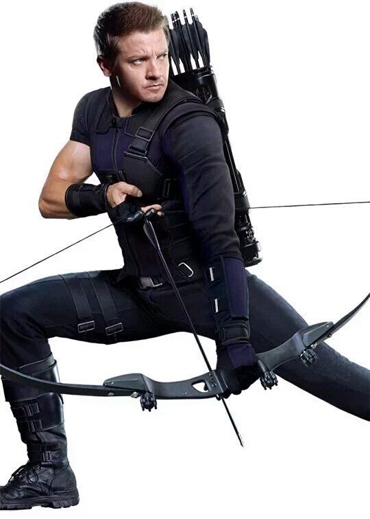 Hawkeye - CAPTAIN AMERICA: CIVIL WAR<<<the side boob really bugs me. When you look closely, the sleeve too