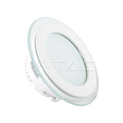 13,83€ 6W Pannello LED mini Vetro Rotondo Cambia colore  SKU: 4841 | VT: VT-604G-RD