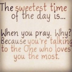 Love this! Prayer is truly that conversation that always leaves with a sense of peace :-)
