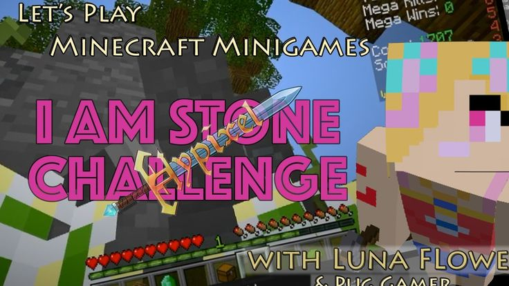 Let's Play Minecraft Minigames - The I Am Stone Challenge (Sky Wars on H...