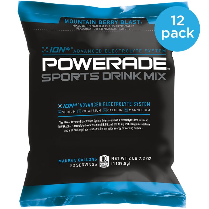 POWERADE® SPORTS DRINK MIX 5 GALLON POUCH (12 PACK)