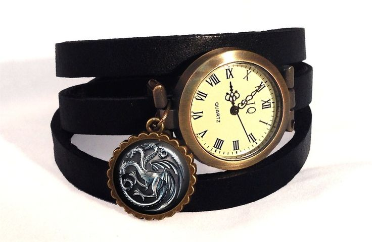 Leather watch bracelet Game of Thrones, 0240WB from EgginEgg by DaWanda.com