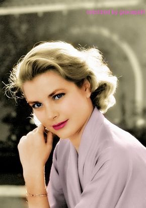 Grace Kelly colorized