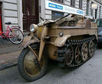 WW II Kettenkrad a moto Tank usada na segunda guerra mundial                                                                                                                                                                                 Mais
