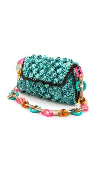 Missoni Melange Raffia Shoulder Bag: