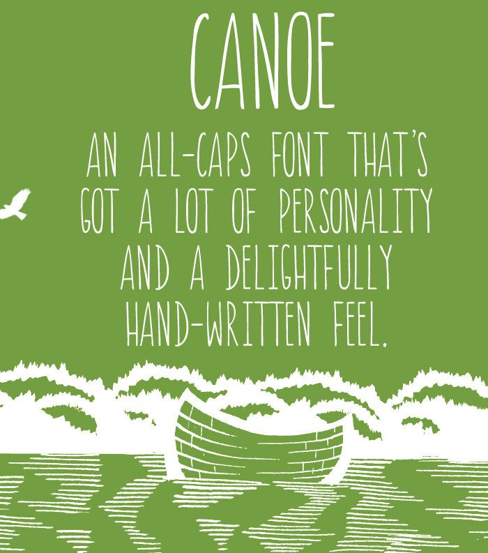 Canoe Font.  a handwritten handwriting modern caligraphy font by Angie Makes