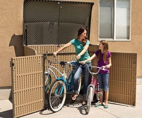 Plastic Bike Storage Sheds - Lifetime Horizontal