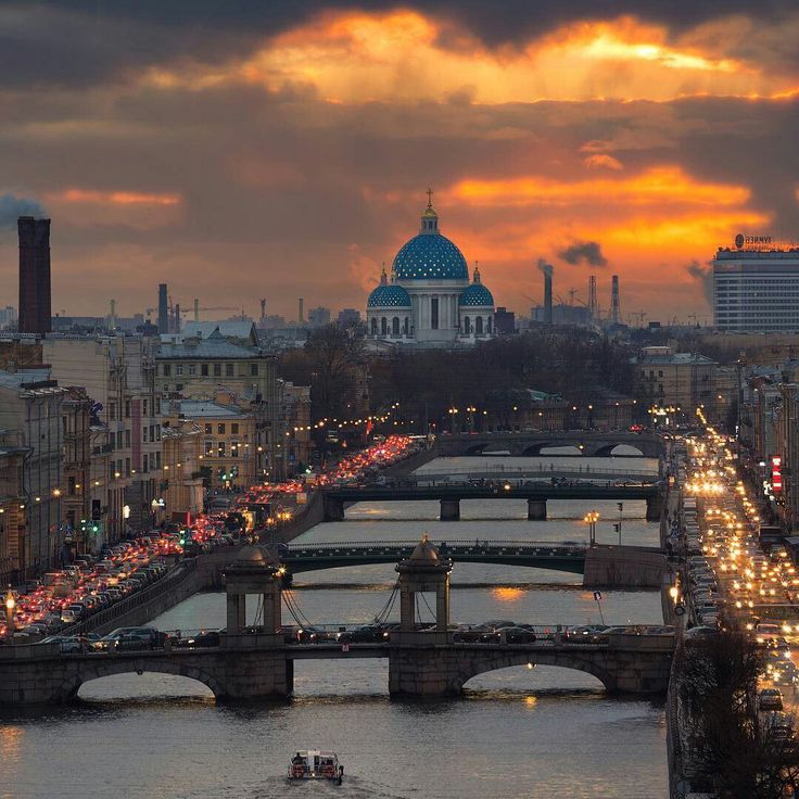 Вечерний Петербург. Мосты через Фонтанку