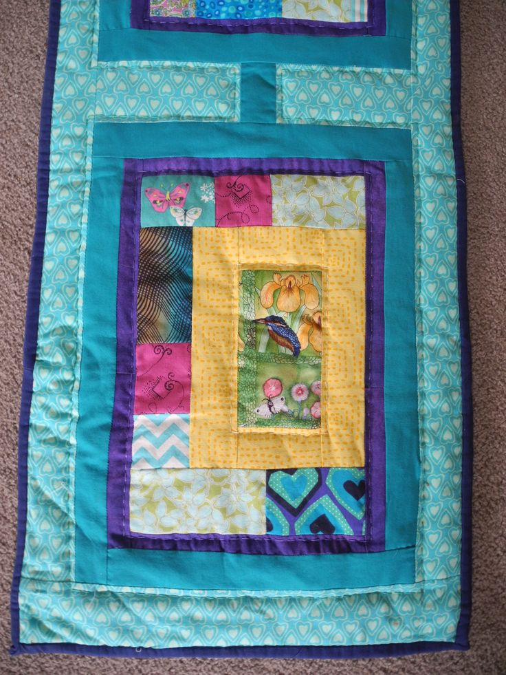 A quilt made for my Cousin Ngaio with the theme of the kingfisher in remembrance of my cousin Damon.