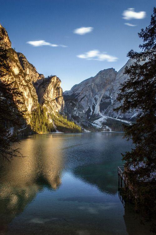 The Blood Moon Rises — sublim-ature: Lago di Braies, Italy Guerel Sahin